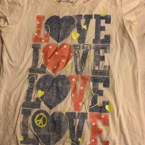 Justice size 16 LOVE shirt! Super cute.